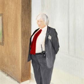 "41 Wu Yi ""A Red Tie"" oil on canvas 30.5 x 22 cm 2013 290x290 - Wu Yi"