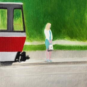 """45 Wu Yi """"Waiting No.2"""" oil on canvas 30 x 22 cm 2013  290x290 - Wu Yi"""