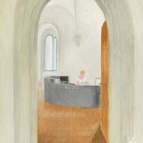 "46 Wu Yi, ""Aris Monastery No.1"", oil on canvas, 32 x 23 cm, 2013"