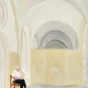 "47 Wu Yi, ""Aris Monastery No.2"", oil on canvas, 30 x 22 cm, 2013"