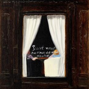 """55 Wu Yi, """"Caffe Perlei"""", oil on canvas, 31 x 22 cm, 2013"""