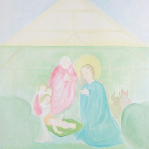 """63 Wu Yi """"Virgin Mary and Baby Jesus No.6"""" oil on canvas 60 x 50 cm 2013  290x290 - Wu Yi"""