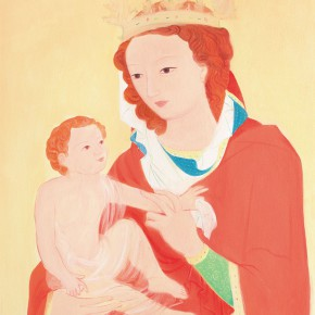 """65 Wu Yi """"Virgin Mary and Baby Jesus No.5"""" oil on canvas 60 x 50 cm 2013 290x290 - Wu Yi"""