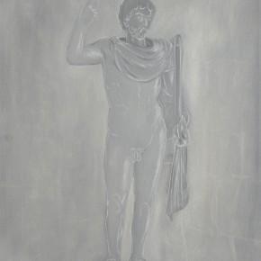 "66 Wu Yi, ""Roman Gladiator"", oil on canvas, 60 x 50 cm, 2013"