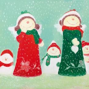 """67 Wu Yi """"Christmas No.1"""" oil on canvas 50 x 60 cm 2013 290x290 - Wu Yi"""