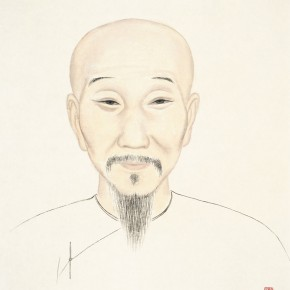 """68 Wu Yi """"Portraits of Ancient Sages – Portrait of Chen Yong"""" ink on paper 47 x 40 cm 2013 290x290 - Wu Yi"""