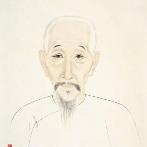 """71 Wu Yi """"Portraits of Ancient Sages – Portrait of Qian Qi"""" 47 x 40 cm 290x290 - Wu Yi"""