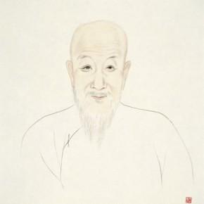 "72 Wu Yi ""Portraits of Ancient Sages – Portrait of Kang Jitian"" ink on paper 2013 290x290 - Wu Yi"