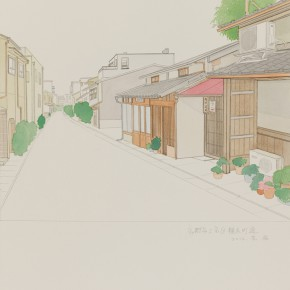 """77 Wu Yi """"Kyoto Kamigyoku Sawaragichodori """" colored ink on paper 39 x 27 cm 2012  290x290 - Wu Yi"""