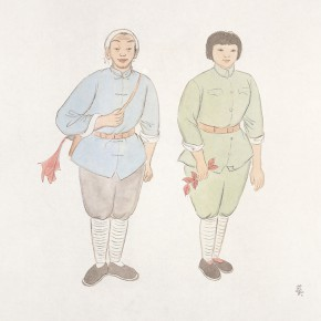 """85 Wu Yi """"Captains of Armed Detachments Are in Love"""" ink on paper 33 x 33 cm 2011 290x290 - Wu Yi"""