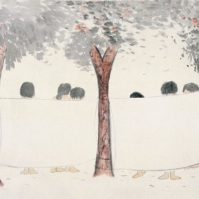 """88 Wu Yi """"In the Afternoon"""" ink on paper 67 x 140 cm 2010 290x290 - Wu Yi"""