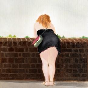 """9 Wu Yi """"Overlook No. 1"""" oil on canvas 31×22.5cm 2013 290x290 - Wu Yi"""
