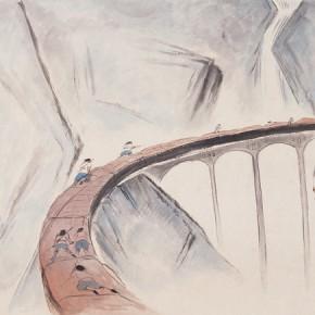 """90 Wu Yi """"Night"""" ink on paper 98 x 198 cm 2010 290x290 - Wu Yi"""