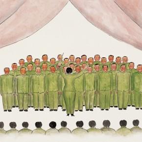"""94 Wu Yi """"Festival No.4"""" ink on paper 67 x 140 cm 2010 290x290 - Wu Yi"""
