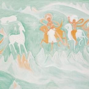 "96 Wu Yi, ""Jiu Se Lu (Nine-Color Deer)"", oil on canvas, 80 x 100 cm, 2010"