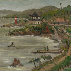 Chen Chengbo, Besides the Lake, 1928; Oil on canvas