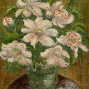 Chen Chengbo, Big White Flower; Oil on canvas, 41.2x31cm