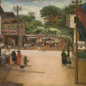Chen Chengbo, Downtown of Jiayi; Oil on canvas, 91x117cm