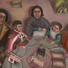 Chen Chengbo, My Family; Oil on canvas, 91x116.5cm