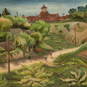 Chen Chengbo, Ridge, 1936; Oil on canvas, 91x116cm