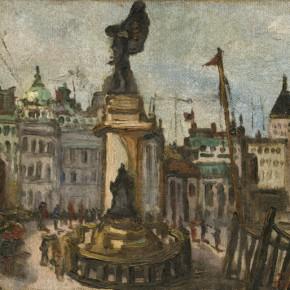 Chen Chengbo, Shanghai Port, 1933; Oil on canvas, 38x46cm