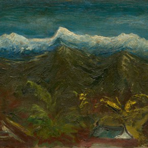 Chen Chengbo, Snow Cover Yu Mountain, 1947; Oil on canvas