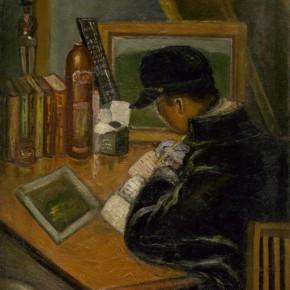 Chen Chengbo, Tireless Reading, 1928; Oil on canvas, 80.5x65cm