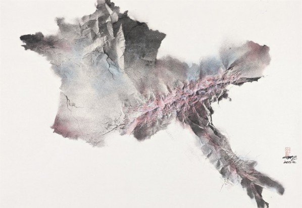 Ding Bin, Impress Series: The Alps , 1000x1450cm, Ink on paper, 2013