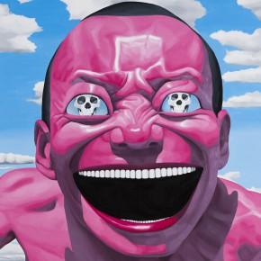 "Yue Minjun, ""Eyesight"", oil on canvas, 200 x 240 cm, 2013"