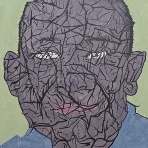"Yue Minjun, ""Skin No.8"", acrylic on canvas, 140 x 170 cm, 2013"