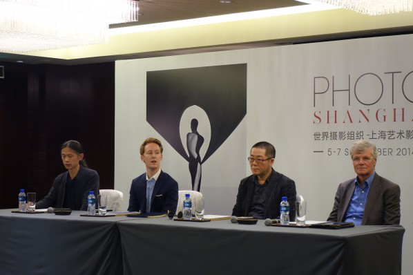 00 Sandy Angus (right), Wang Huangsheng (the second on the right), Alexander Montague - Sparey (the second on the left), and RongRong (left) at the Press conference
