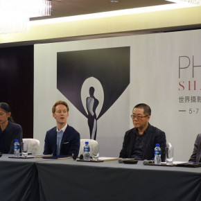 00 Sandy Angus right Wang Huangsheng the second on the right Alexander Montague Sparey the second on the left and RongRong left at the Press conference  副本 290x290 - Press Conference of Photo Shanghai 2014 Held in Beijing
