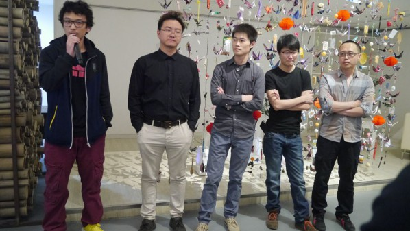 01 Group photo of artists Qin Guanwei, Wang Haonan, Shi Haopeng, Xu Hongxiang, and Wang Guozhao