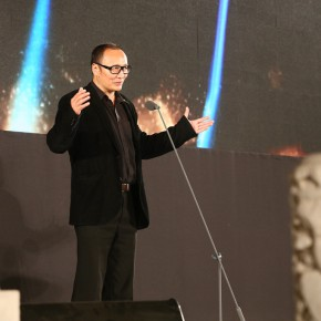 02 LaoZhu Chairman of Vetting Committee spoke  290x290 - Prizes of the 8th Award of Art China Eventually Announced at the Cining Palace of the Forbidden City