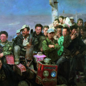 """03 Xin Dongwang """"The Sunny Day"""" 210 x 280 cm 2006 290x290 - """"Images of Heart – Professor Xin Dongwang's Memorial Service and Exhibition"""" Held at Tsinghua University"""