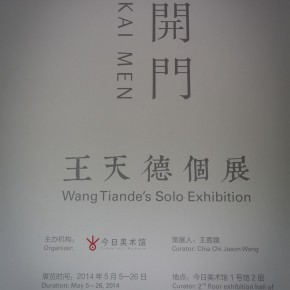 06 The Opening Cerremony of Kai Men 290x290 - Kai Men – Wang Tiande's Solo Exhibition Opened at Today Art Museum