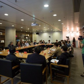 "09 View of the press conference of ""Graduate Exhibition 2014"""