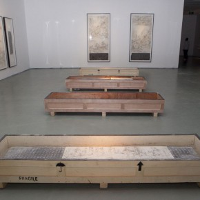 18 Gallery B:Tablet and Rubbings 2 290x290 - Kai Men – Wang Tiande's Solo Exhibition Opened at Today Art Museum