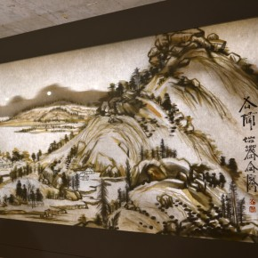 "21 View of the exhibition opening1 290x290 - Xu Bing's ""Background Story: Dwelling in Fuchun Mountains"" Opened at Inside-Out Art Museum"