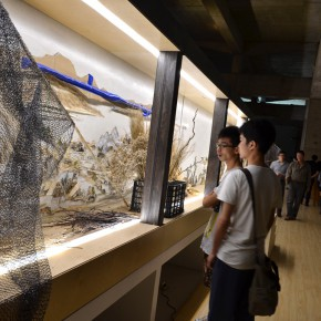 "22 View of the exhibition opening1 290x290 - Xu Bing's ""Background Story: Dwelling in Fuchun Mountains"" Opened at Inside-Out Art Museum"