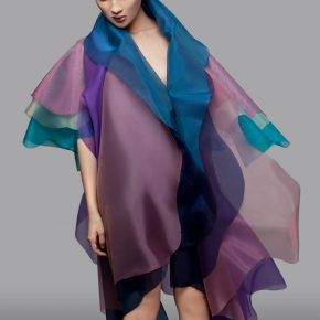 "31 Lyu Yue ""Colorful"" No.3 2008 Transparent yarn silk Size Variable 290x290 - Lyu Yue (Aluna)"