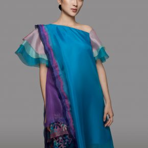 "32 Lyu Yue ""Colorful"" No.4 2008 Transparent yarn silk Size Variable 290x290 - Lyu Yue (Aluna)"