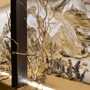 "32 Third floor exhibition hall presents ""Dwelling in Fuchun Mountains""1 290x290 - Xu Bing's ""Background Story: Dwelling in Fuchun Mountains"" Opened at Inside-Out Art Museum"