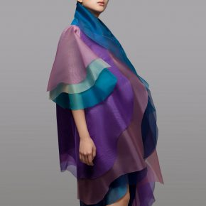 "33 Lyu Yue ""Colorful"" No.5 2008 Transparent yarn silk Size Variable 290x290 - Lyu Yue (Aluna)"