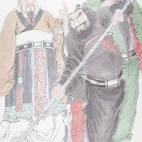 """Chen Ming, Tapestry Portraits of Three Kingdoms No.2 2013 Ink and color on paper 138x69cm 290x290 - """"Ink Painting - Academic Exchange Exhibition"""" to be Presented in Taipei and Nanjing"""