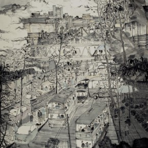 Fang Xiang Hong Kong Series 2011 Ink on paper 184x144cm 290x290 - The Image of China – Exhibition of Contemporary Chinese Painting and Sculptures on Display at the National Art Museum of China
