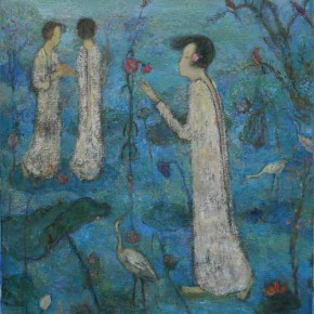 """Jia Juanli Deep Blue 100 × 73 cm Oil on Canvas 2011  290x290 - MGM Macau and AFA jointly presents group exhibition of """"L'art Chinois"""""""
