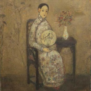 """Jia Juanli Women with Fan 65 × 54 cm Oil on Canvas 2010  290x290 - MGM Macau and AFA jointly presents group exhibition of """"L'art Chinois"""""""