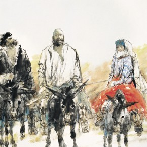 Liu Dawei Return of Baza 1999 ink and color on paper 180x120cm 290x290 - The Image of China – Exhibition of Contemporary Chinese Painting and Sculptures on Display at the National Art Museum of China