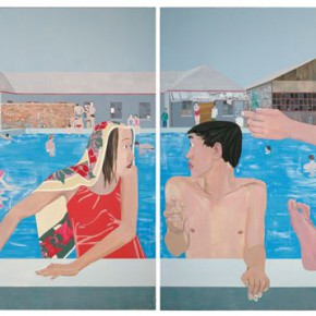 Ma Xiaoteng By the Swimming Pool 205×600cm Oil on Canvas Acrylic on Canvas 2010 290x290 -  Reread –  Ma Xiaoteng Solo Exhibition Featuring His Paintings at Today Art Museum